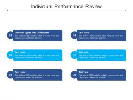 Individual Performance Review Ppt Powerpoint Presentation Icon Gallery Cpb