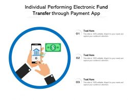 Individual Performing Electronic Fund Transfer Through Payment App
