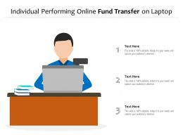 Individual Performing Online Fund Transfer On Laptop