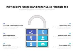 Individual Personal Branding For Sales Manager Job