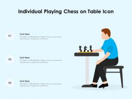 Individual Playing Chess On Table Icon