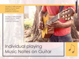 Individual Playing Music Notes On Guitar
