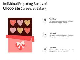 Individual Preparing Boxes Of Chocolate Sweets At Bakery