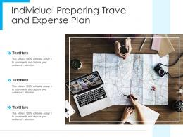 Individual Preparing Travel And Expense Plan