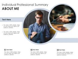 Individual Professional Summary About Me Infographic Template