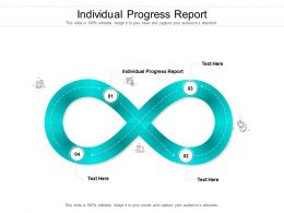 Individual Progress Report Ppt Powerpoint Presentation Icon Grid Cpb