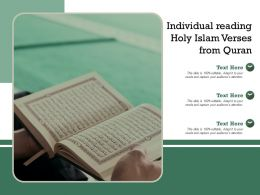 Individual Reading Holy Islam Verses From Quran