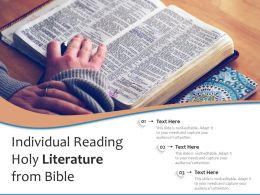 Individual Reading Holy Literature From Bible