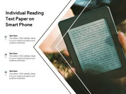 Individual Reading Text Paper On Smart Phone