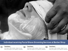 Individual Receiving Facial Shave Grooming Services At Barber Shop
