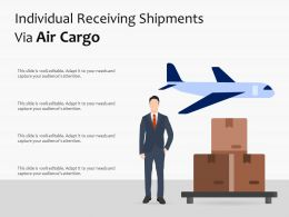 Individual Receiving Shipments Via Air Cargo