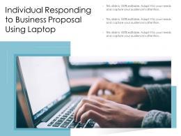 Individual Responding To Business Proposal Using Laptop