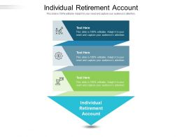 Individual Retirement Account Ppt Powerpoint Presentation Professional Slide Portrait Cpb