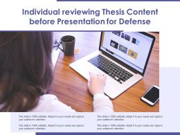 Individual Reviewing Thesis Content Before Presentation For Defense