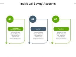Individual Saving Accounts Ppt Powerpoint Presentation Outline Designs Cpb