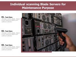 Individual Scanning Blade Servers For Maintenance Purpose