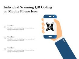 Individual Scanning QR Coding On Mobile Phone Icon