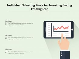 Individual Selecting Stock For Investing During Trading Icon