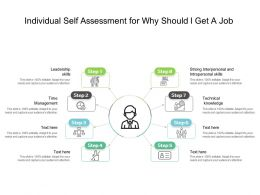 Individual Self Assessment For Why Should I Get A Job