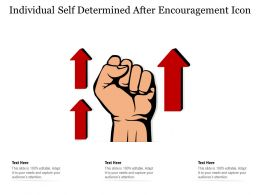 Individual Self Determined After Encouragement Icon