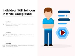Individual Skill Set Icon In White Background