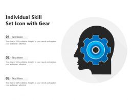 Individual Skill Set Icon With Gear