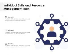 Individual Skills And Resource Management Icon