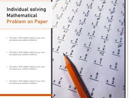 Individual Solving Mathematical Problem On Paper