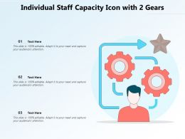 Individual Staff Capacity Icon With 2 Gears