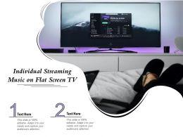 Individual Streaming Music On Flat Screen TV