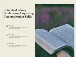 Individual Taking Guidance On Improving Communication Skills