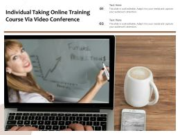 Individual Taking Online Training Course Via Video Conference