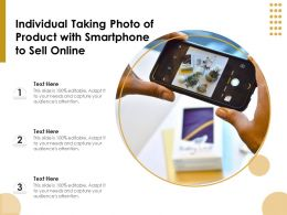 Individual Taking Photo Of Product With Smartphone To Sell Online