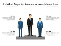 Individual Target Achievement Accomplishment Icon