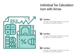 Individual Tax Calculation Icon With Arrow
