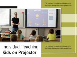 Individual Teaching Kids On Projector