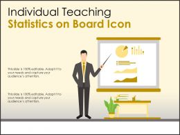 Individual Teaching Statistics On Board Icon