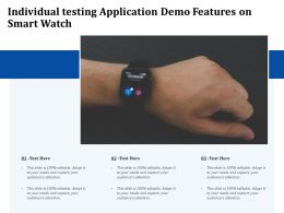 Individual Testing Application Demo Features On Smart Watch