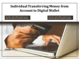 Individual Transferring Money From Account To Digital Wallet