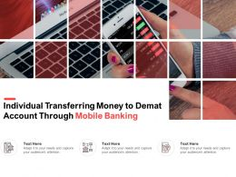 Individual Transferring Money To Demat Account Through Mobile Banking
