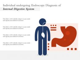 Individual Undergoing Endoscopy Diagnosis Of Internal Digestive System