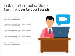 Individual Uploading Video Resume Icon For Job Search
