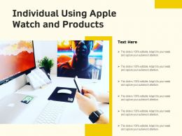 Individual Using Apple Watch And Products