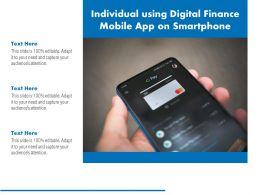 Individual Using Digital Finance Mobile App On Smartphone