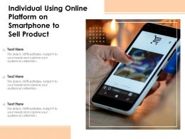 Individual Using Online Platform On Smartphone To Sell Product