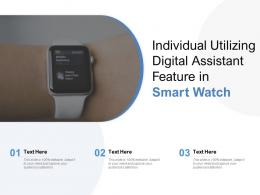 Individual Utilizing Digital Assistant Feature In Smart Watch