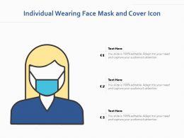 Individual Wearing Face Mask And Cover Icon