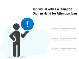 Individual With Exclamation Sign In Hand For Attention Icon