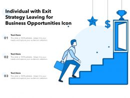 Individual With Exit Strategy Leaving For Business Opportunities Icon