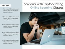 Individual With Laptop Taking Online Learning Classes